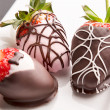 Stock Photo: Chocolate Strawberries