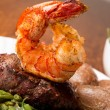 Steak and Shrimp - Stock Photo
