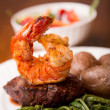 Steak and Shrimp - Foto Stock