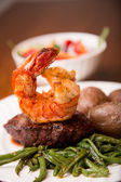 Steak and Shrimp — Stock Photo