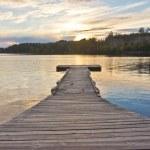White Iron Lake boat dock — Stock Photo #19708409