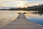 White Iron Lake boat dock — Stock Photo