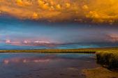Peaceful Evening at Arapaho Wildlife Refuge — Stock Photo