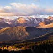 Clounds over Long's Peak - Stock Photo