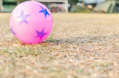 Pink ball in ground — Stock Photo