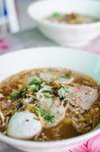 Tom Yum noodle soup is thai food — Stock Photo