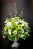 Vase Artificial Flower Arrangement — Stock Photo