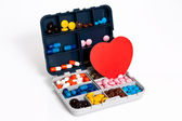 Box with pill — Stock Photo