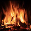Fire in a fireplace — Stock Photo #19740075
