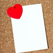 Holiday card with a heart — Stock Photo #19740115
