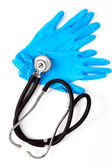 Medical gloves and stethoscope — Stock Photo