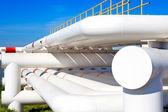 Przemysłowy rura z gazu i ropy naftowej i wody — Zdjęcie stockowe