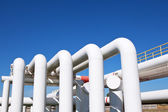 Industrial pipe with gas and oil and water — Stock Photo