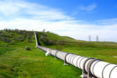 Industrial pipe with gas and oil — Stock Photo