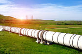 Industrial pipe with gas and oil — Foto de Stock