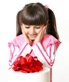 Little girl with a great gift — Stock Photo