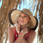 Closeup portrait of beautiful female model — Stock Photo #22364383