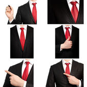 Businessman in a suit and red tie — Stock Photo