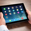 New operating system IOS 7 screen on iPad Apple — Stock Photo