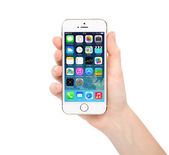 New update operating system IOS 7.1 screen on iPhone 5S Gold App — Stock Photo