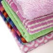 Stock Photo: Folded towels