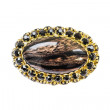 Agate brooch — Stock Photo