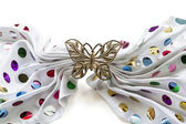 Golden butterfly barrette — Stock Photo