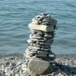 Tower of pebble stones — Stockfoto