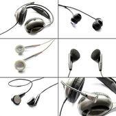 Set of headphones — Stock Photo