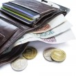 Wallet with cash — Stockfoto