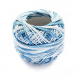 Stock Photo: Bicolor blue yarn