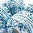 Stock Photo: Bicolor light blue yarn