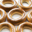 Some golden bagels — Stock Photo