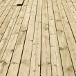 Stock Photo: Old wooden decking