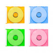 Set of multicolor CD — Stock Photo