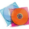Stock Photo: Two compact discs
