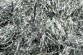 Enfeites de natal prata — Foto Stock