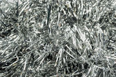 Silver tinsel — Stock Photo