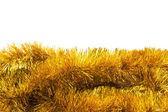золотая мишура — Стоковое фото
