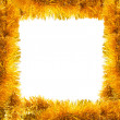 Frame of golden tinsel — Stock Photo #31630213