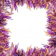 Frame of violet tinsel — Foto de Stock