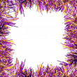 Frame of violet tinsel — Stock Photo