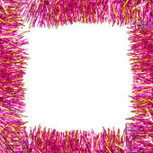 Frame of pink tinsel — Stock Photo