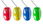 Set of computer mice — Foto Stock