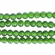 Green glass bead — Stock Photo