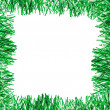 Green tinsel frame — Stock Photo