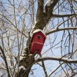 Red birdhouse — Stock Photo