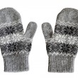 Gray mittens — Stock Photo