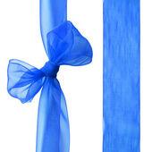 Blue ribbon — Stock Photo