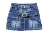 Jean mini skirt — 图库照片